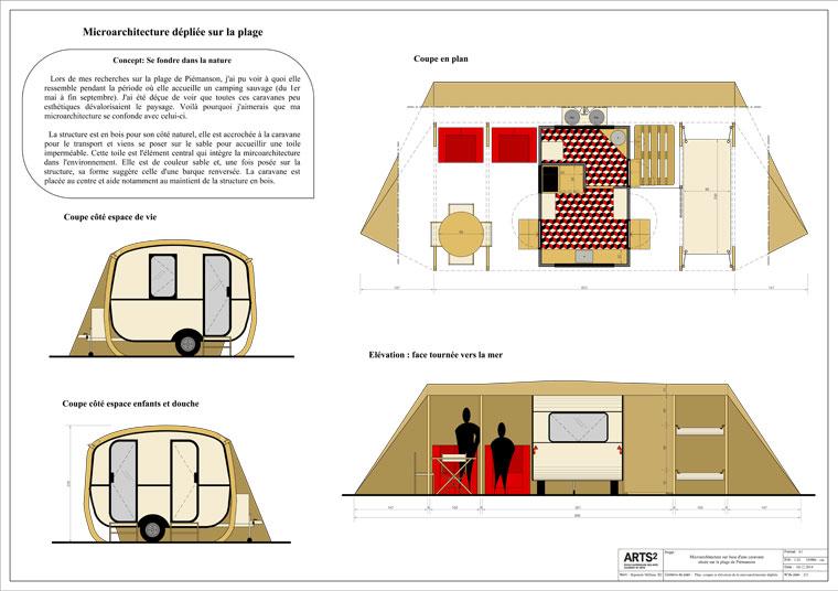 Micro architecture ph m re avec pour base une caravane vacances sur la plag - Caravane d architecture ...