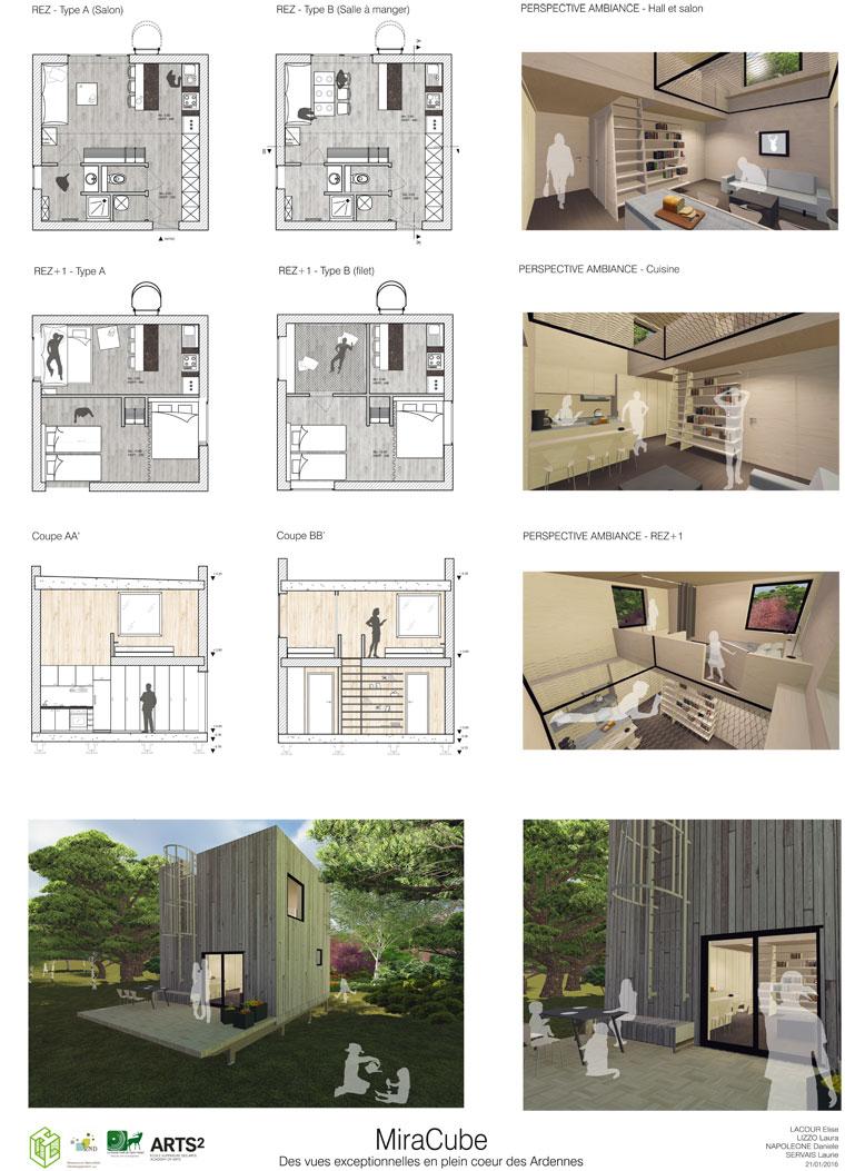 Concours bois habitat l ger de loisir architecture d for Plan architecte interieur